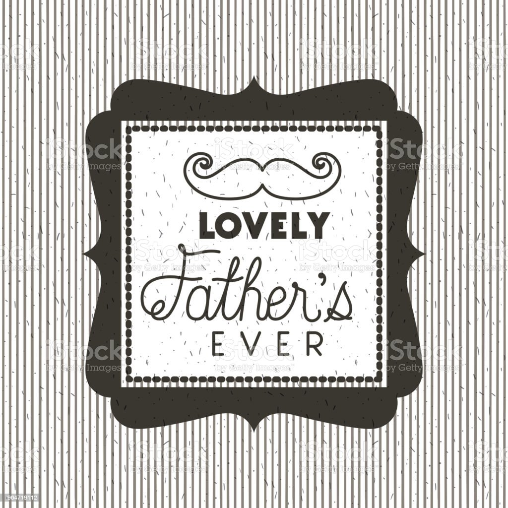 happy fathers day card with mustache royalty-free happy fathers day card with mustache stock vector art & more images of banner - sign