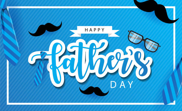 happy fathers day creative background happy fathers day creative background with tie for print, gift, card greeting etc. father stock illustrations
