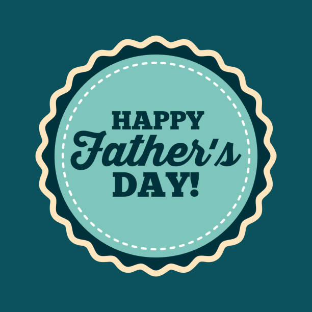 happy father's day design - fathers day stock illustrations, clip art, cartoons, & icons