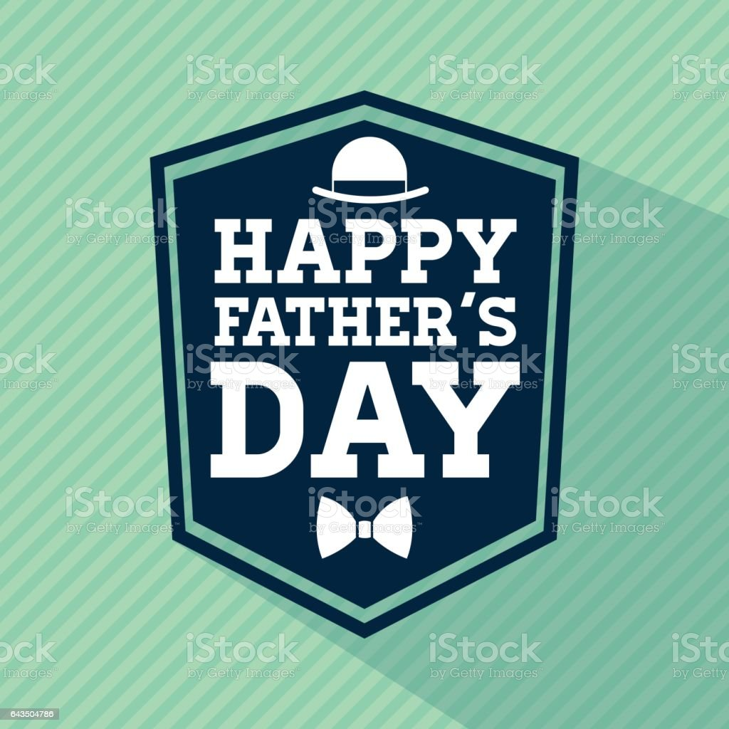 Happy Fathers day design. vintage icon. Colorful illustration vector art illustration