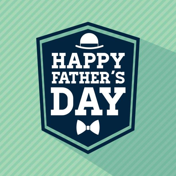 happy fathers day design. vintage icon. colorful illustration - fathers day stock illustrations, clip art, cartoons, & icons