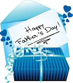 Happy father's day gift and greeting card.