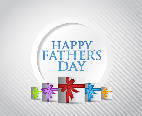 Happy fathers day gift card illustration design