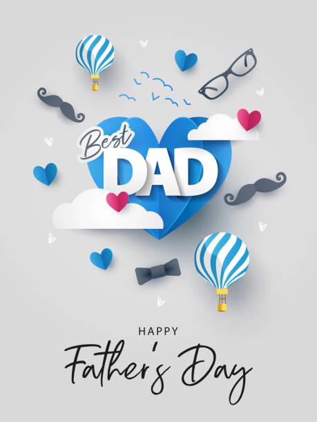 ilustrações, clipart, desenhos animados e ícones de cartão do dia de pai feliz, bandeira, poster ou projeto do insecto - feliz dia dos pais