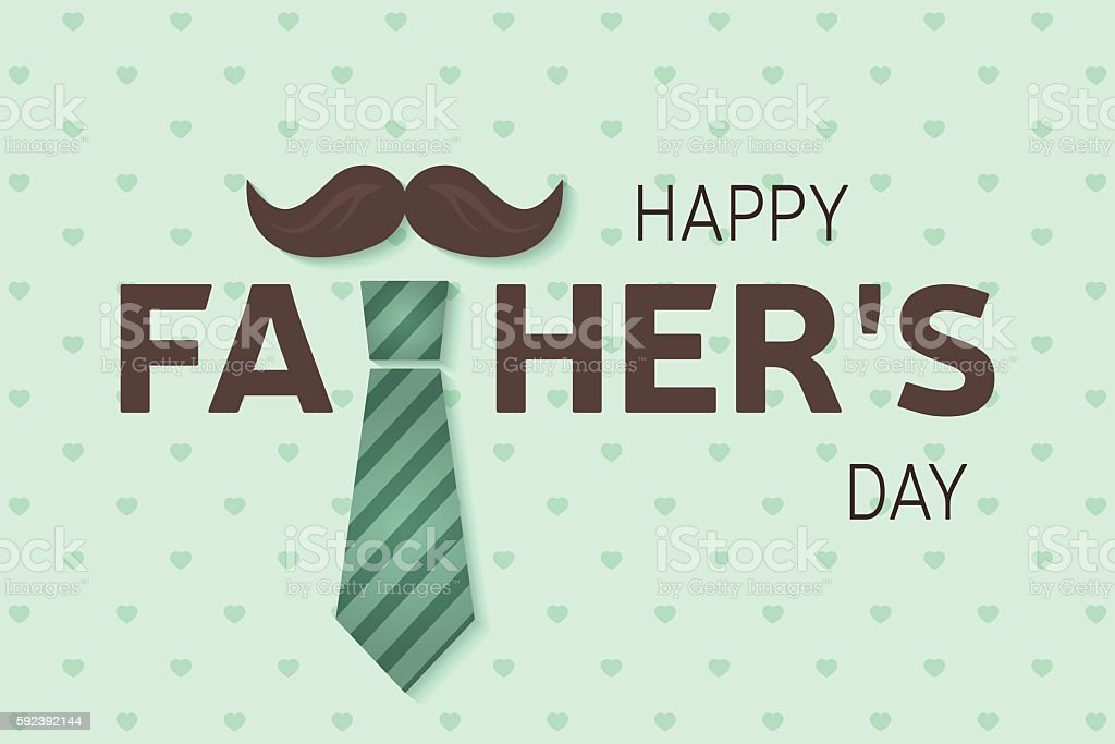 Happy Father\'s Day greeting card. Happy Father\'s Day poster. Vector...