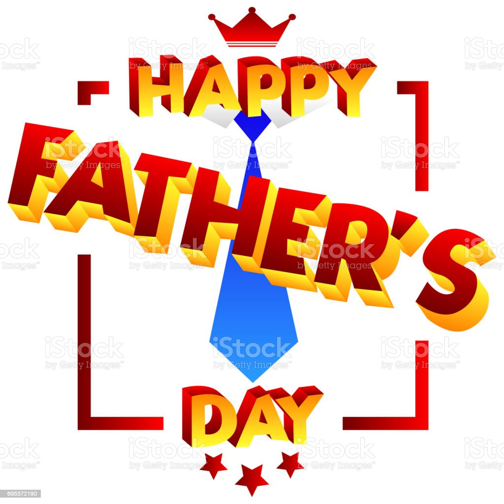 Happy Fathers Day Greeting Card Stock Vector Art More Images Of