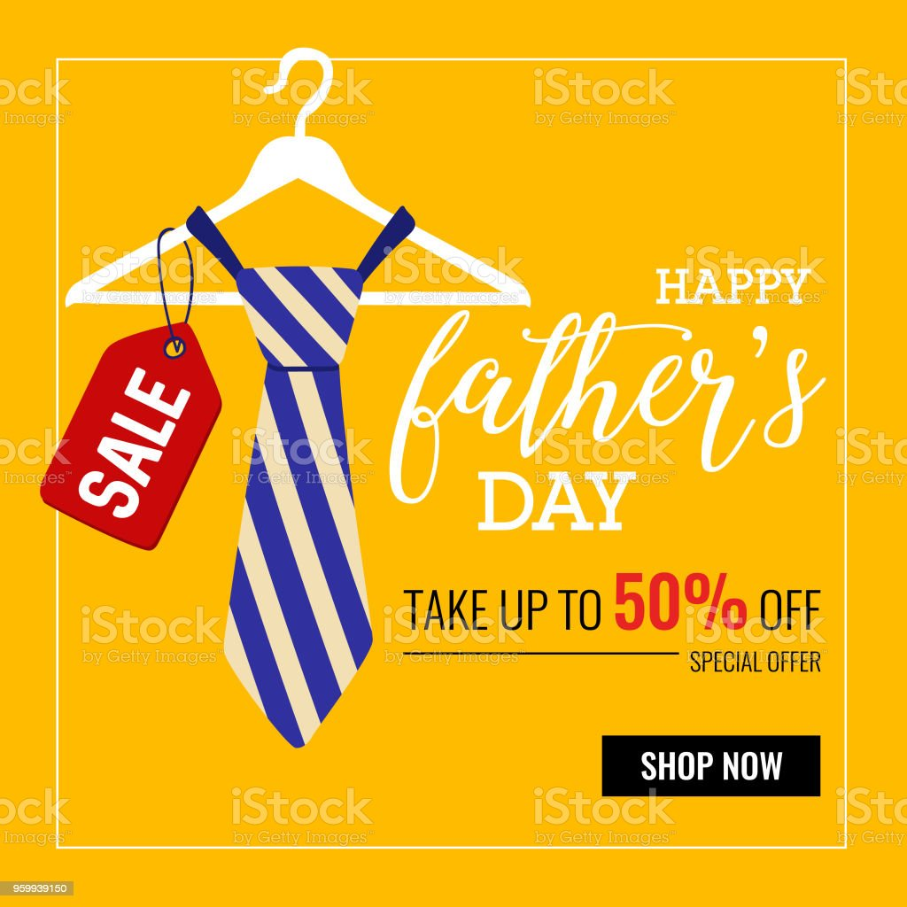 Happy fathers day greeting card with typographic design vector happy fathers day greeting card with typographic design vector illustration royalty free happy m4hsunfo