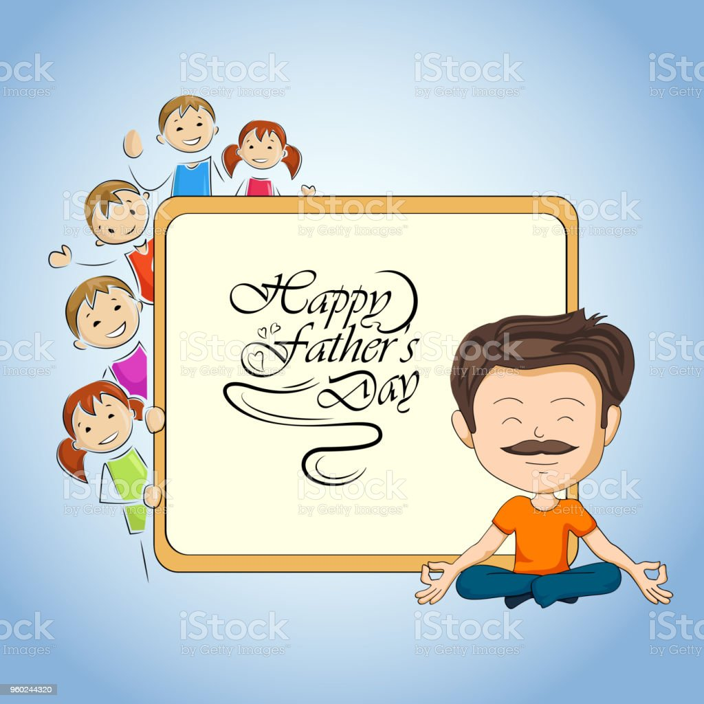 Happy Fathers Day Greetings Background Stock Vector Art More