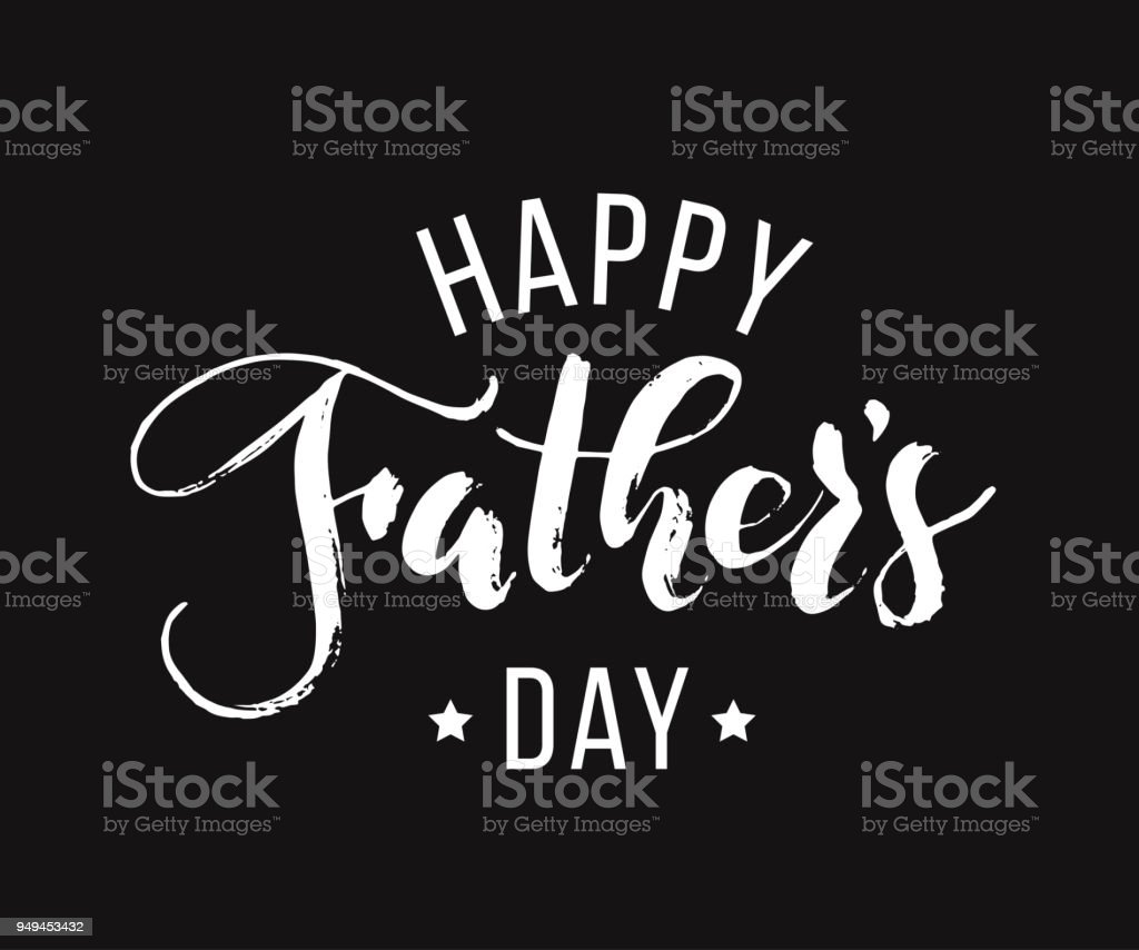 Happy fathers day hand drawn lettering for greeting card on black hand drawn lettering for greeting card on black background greeting dad m4hsunfo