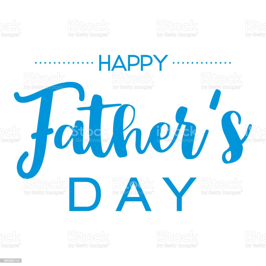 Happy Fathers Day, Hand drawn lettering. royalty-free happy fathers day hand drawn lettering stock vector art & more images of beauty
