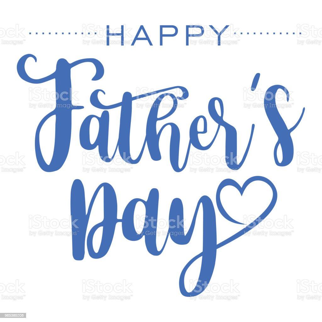 Happy Fathers Day, Hand drawn lettering. happy fathers day hand drawn lettering - stockowe grafiki wektorowe i więcej obrazów bez ludzi royalty-free