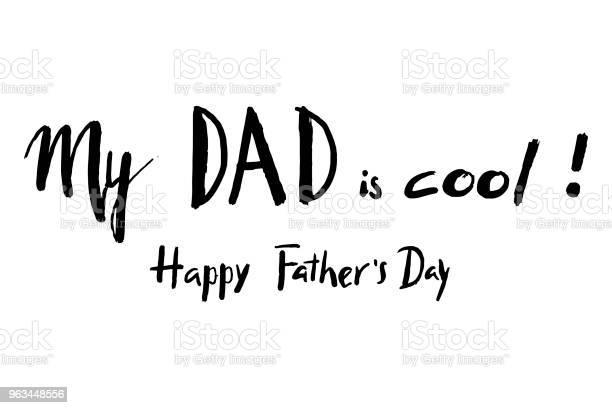 Mutlu Babalar Günü El Yazı Tebrik Kartı Poster Afiş Simge Simge Için Kullanılabilir Stok Vektör Sanatı & Adamlar'nin Daha Fazla Görseli