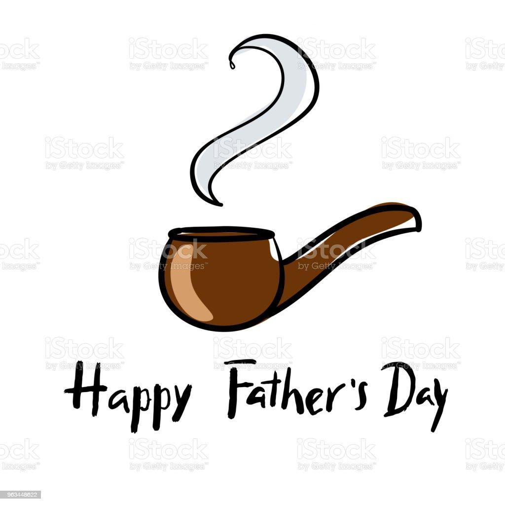 Mutlu babalar günü el yazı tebrik kartı, poster, afiş, simge, simge için kullanılabilir. - Royalty-free Adamlar Vector Art