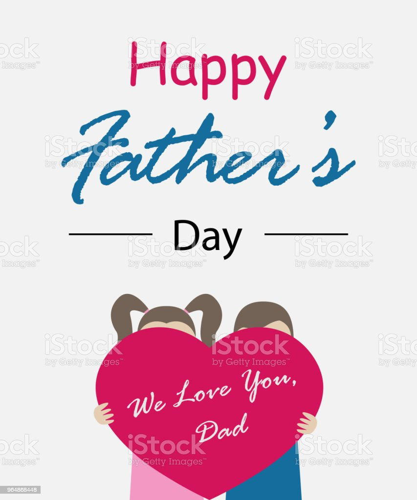 Happy father's day. Lettering. Child with heart vector illustration royalty-free happy fathers day lettering child with heart vector illustration stock vector art & more images of adult