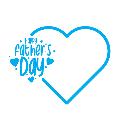 Happy Fathers Day lettering. Father's day text. stock illustration