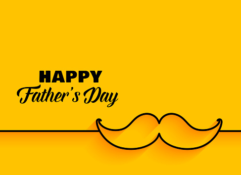 happy fathers day minimal yellow background clipart