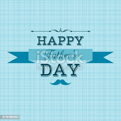 istock Happy Father's Day retro greeting card 679288060