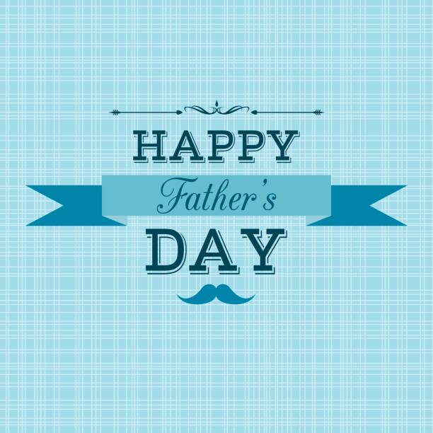 happy father's day retro greeting card - fathers day stock illustrations, clip art, cartoons, & icons