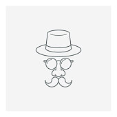istock Happy father`s day smiling dad icon 1225608429