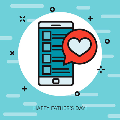 Happy Father's Day Thin Line Icon