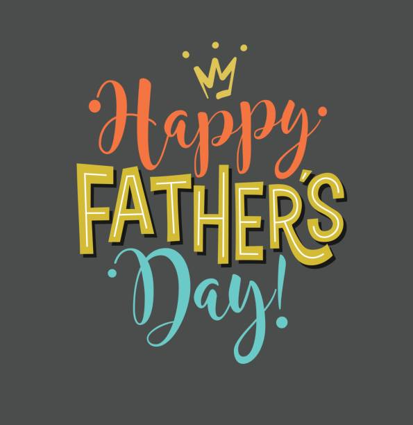happy father's day. typography design for greeting cards, web banners. vector illustration. - fathers day stock illustrations, clip art, cartoons, & icons