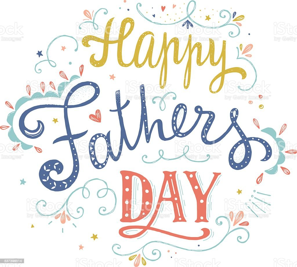 Happy Fathers Day Vector Card Stock Illustration ...