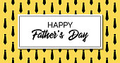 Happy father's day. Vector greeting card. Stylish fashion template with neckties