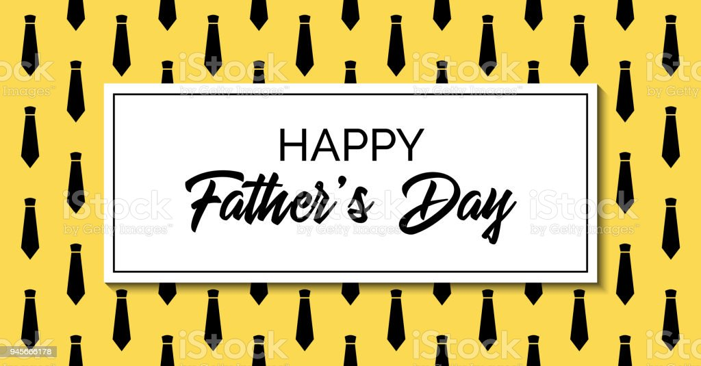 Happy father's day. Vector greeting card. Stylish fashion template with neckties. Facebook link size vector art illustration