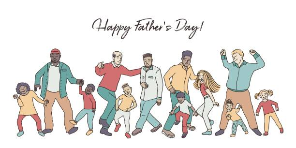 Happy Father's Day! vector art illustration