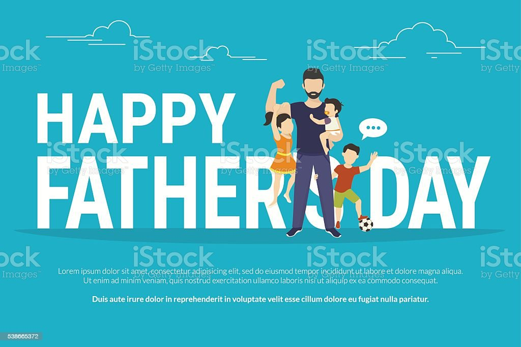 Happy fathers day vector art illustration