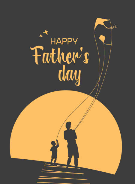 bildbanksillustrationer, clip art samt tecknat material och ikoner med happy fars dag - pappa son