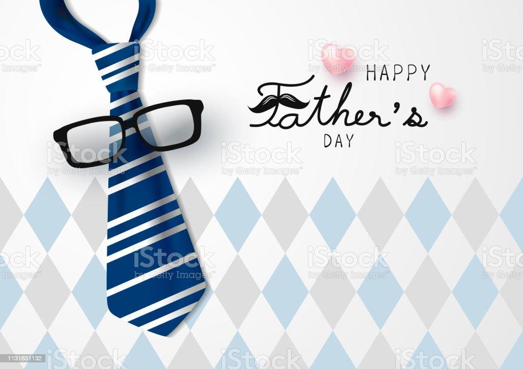 Glücklicher Vatertag Vektorabbildung – Vektorgrafik