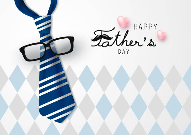 happy father's day vector illustration - fathers day stock illustrations, clip art, cartoons, & icons