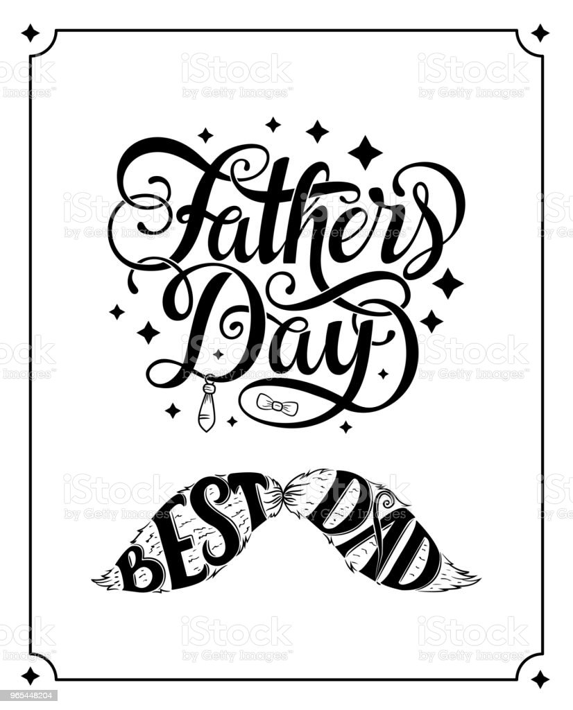 Happy fathers day vector typography. Vintage lettering for greeting cards, banners, t-shirt design. happy fathers day vector typography vintage lettering for greeting cards banners tshirt design - stockowe grafiki wektorowe i więcej obrazów baner royalty-free
