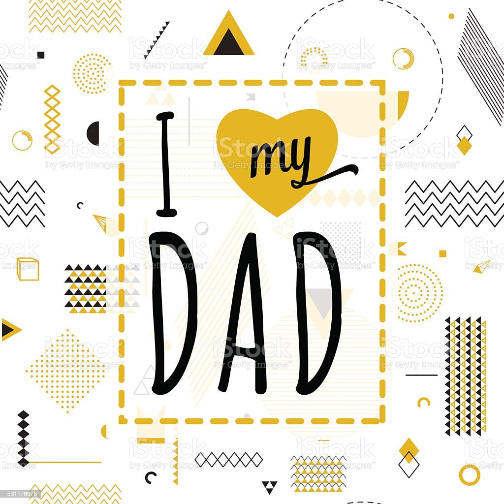 Happy fathers day wishes design vector background on seamless pattern vector art illustration