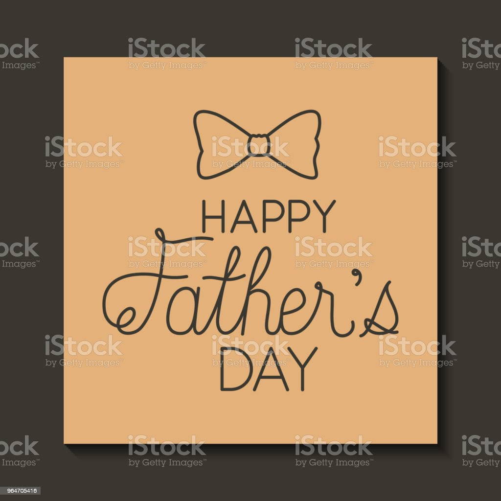 happy fathers day with elegant bowtie royalty-free happy fathers day with elegant bowtie stock vector art & more images of banner - sign