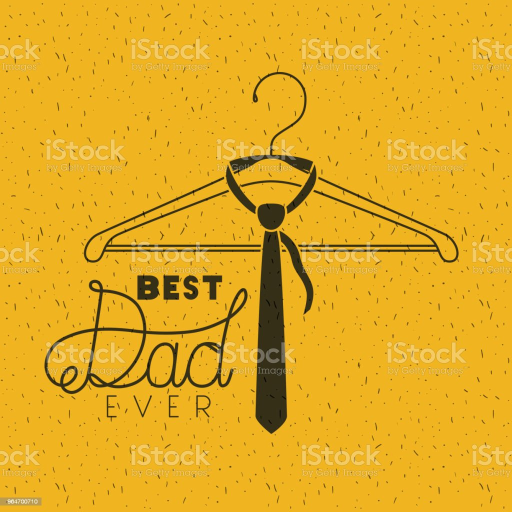 happy fathers day with necktie hanging royalty-free happy fathers day with necktie hanging stock vector art & more images of banner - sign