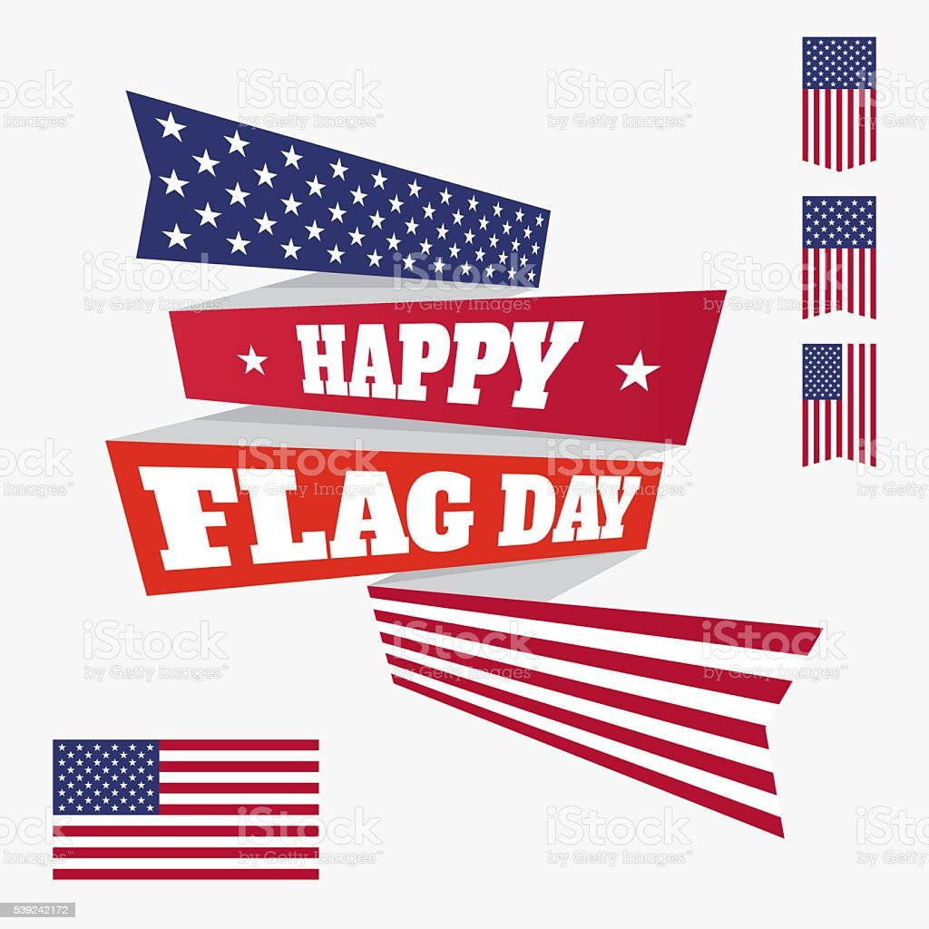 Happy Flag Day badge royalty-free happy flag day badge stock vector art & more images of american flag
