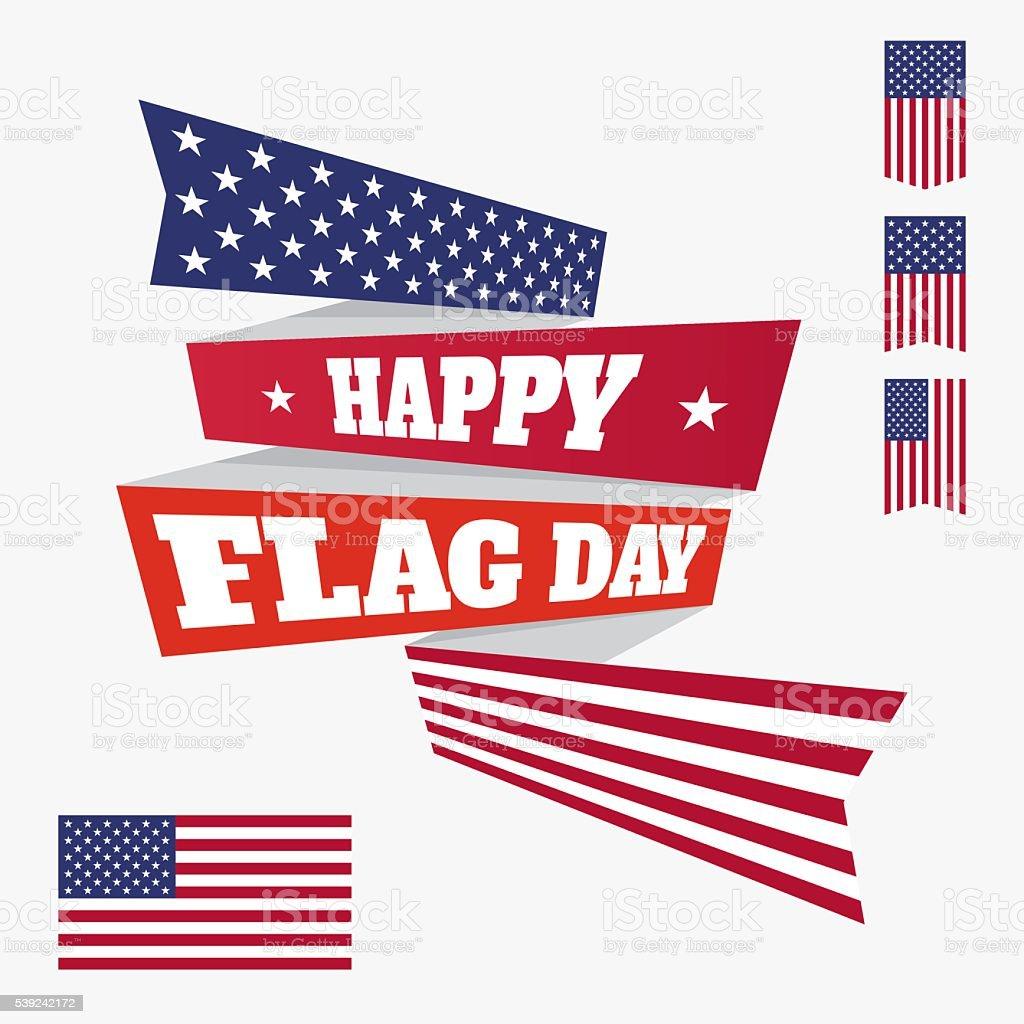Bandera felices día tarjeta ilustración de bandera felices día tarjeta y más banco de imágenes de acontecimiento libre de derechos