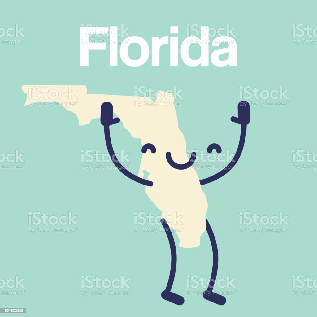 Florida Map Gulf Coast.Happy Florida Map Icon Stock Vector Art More Images Of Abstract