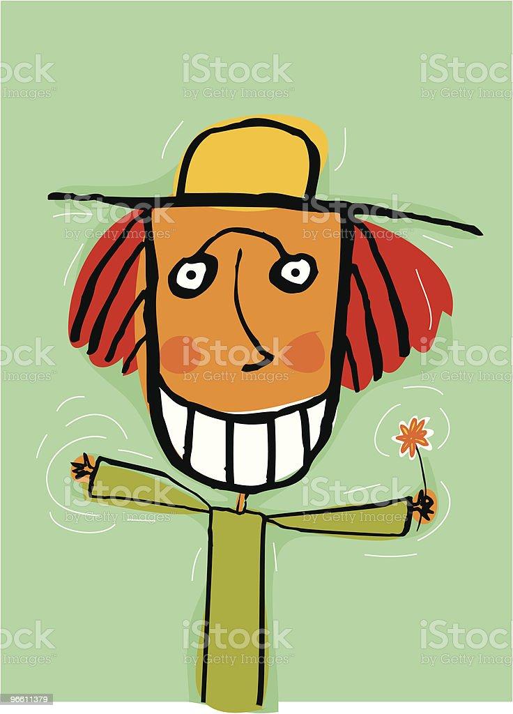Happy flower child - Royaltyfri Barn vektorgrafik