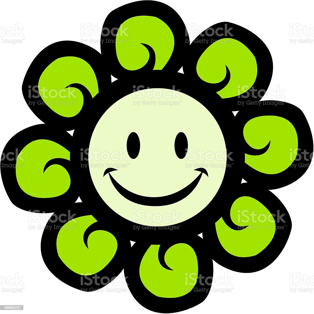 Happy Flower Face royalty-free happy flower face stock vector art & more images of acid