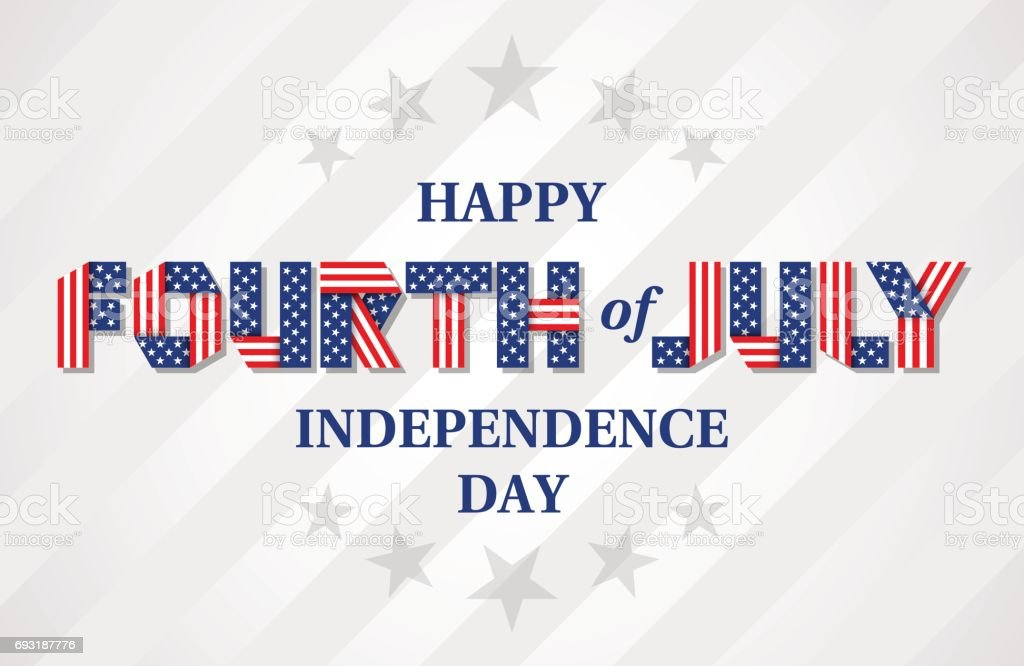 Happy Fourth of July Independence Day banner for USA national holiday. Vector illustration. vector art illustration