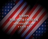 Happy Fourth of July poster. Independence Day with USA flag. Vector illustration. EPS10