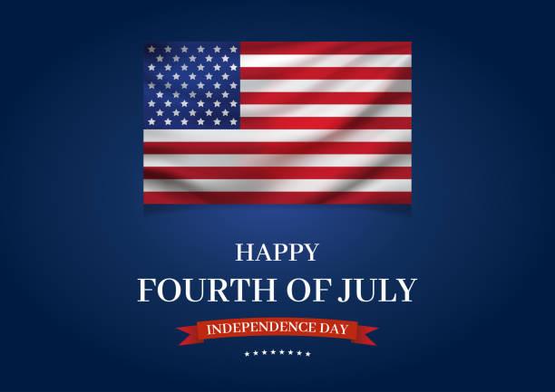 七月四日快樂海報,美國國旗。獨立日向量插圖。 - independence day 幅插畫檔、美工圖案、卡通及圖標