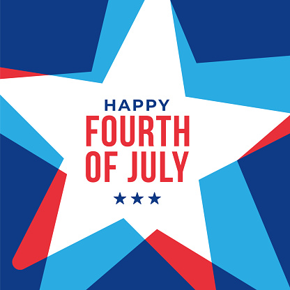 Happy Fourth of July - United Stated independence day greeting.