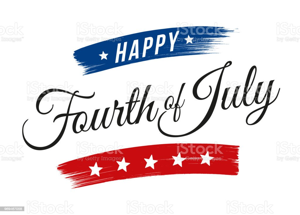 Happy Fourth of July - United Stated independence day greeting Happy Fourth of July - United Stated independence day greeting - Illustration American Culture stock vector