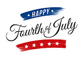 Happy Fourth of July - United Stated independence day greeting - Illustration