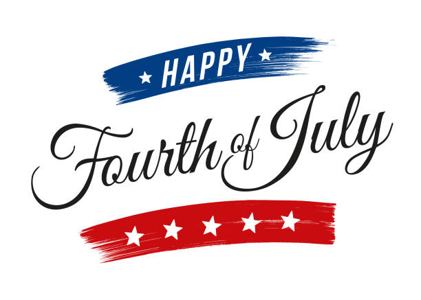 Happy Fourth of July - United Stated independence day greeting Happy Fourth of July - United Stated independence day greeting - Illustration independence day illustrations stock illustrations