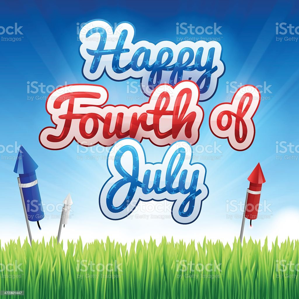 Happy Fourth of July royalty-free stock vector art